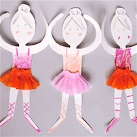 paper doll crafts for paper doll ballerinas easy craft tip junkie