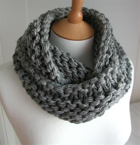 how to knit chunky infinity scarf scarf chunky circular infinity gray knit cowl
