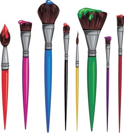 5 brushes free vector paint brushes clipart best