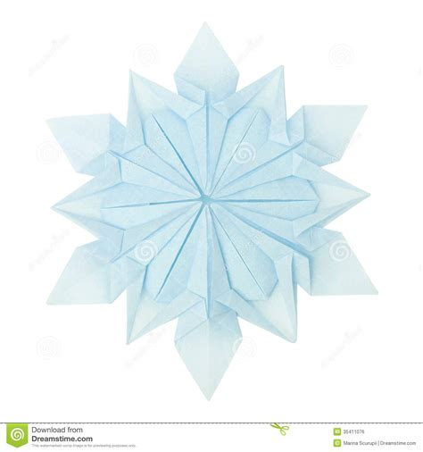 snow origami origami snowflake stock photo image of space pattern