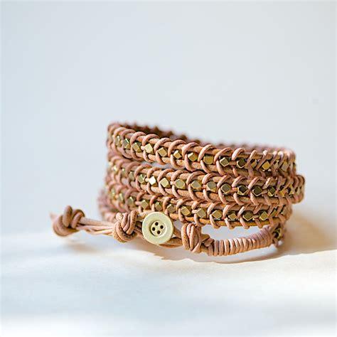 wrap bead bracelet tutorial leather wrap bracelet tutorial