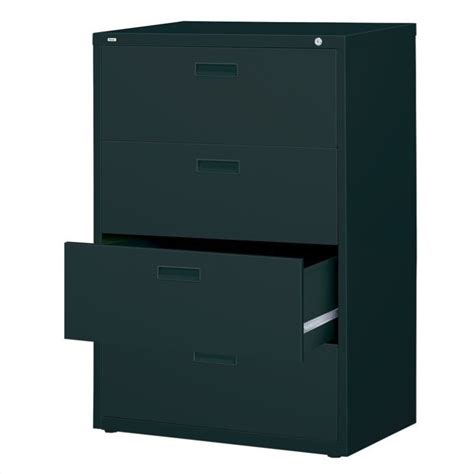 4 drawer lateral file cabinets 4 drawer lateral file cabinet in black 14957