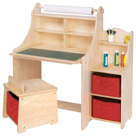 activity desk and chair guidecraft artist activity desk transitional