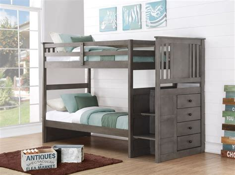 ebay bunk beds with stairs gray bunk beds for boys or with stairs and storage