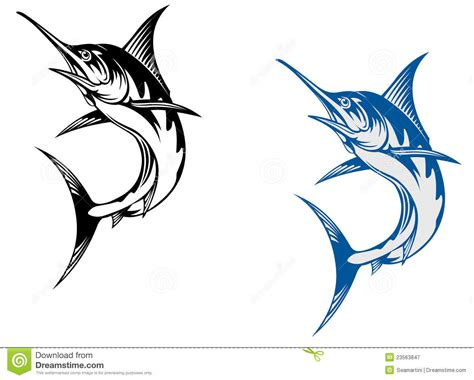 big marlin fish stock vector image of bill illustration