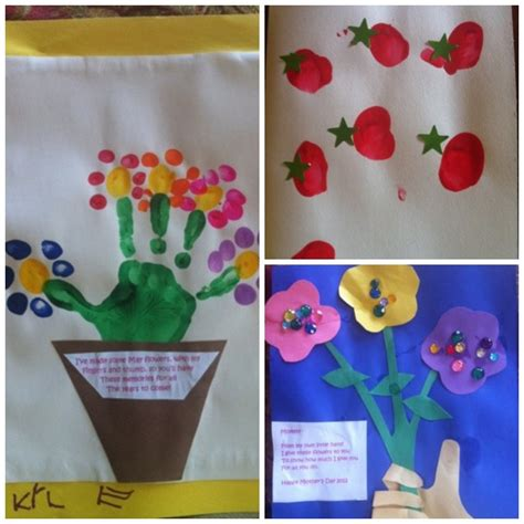 mothers day craft ideas s day handprint and fingerprint craft ideas