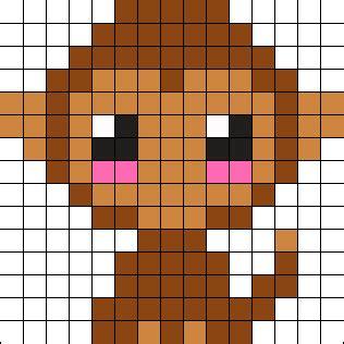 perler monkey pattern baby monkey perler bead pattern bead sprites animals