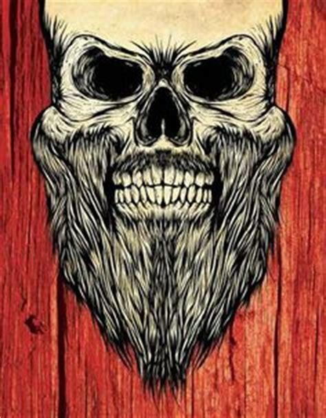 skull beard bearded skull