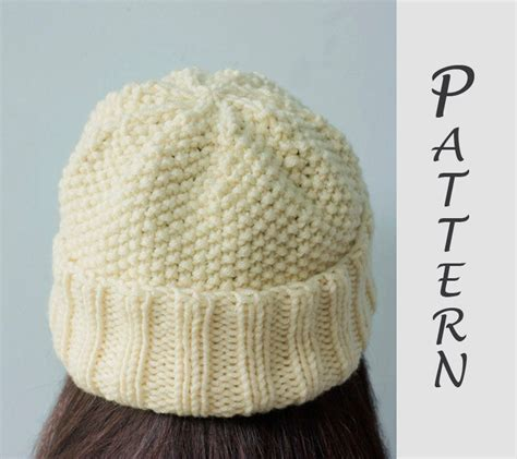 easy knit hat patterns easy hat knitting pattern knit hat pdf pattern winter hat