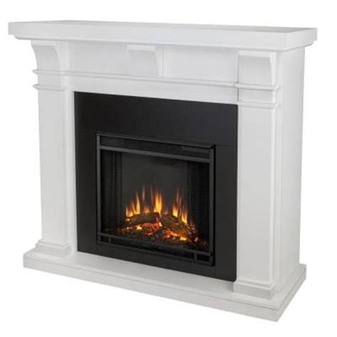 fireplace home depot real porter 50 in electric fireplace in white 7730e