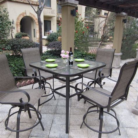 patio furniture bar height set patio furniture counter height table sets furniture