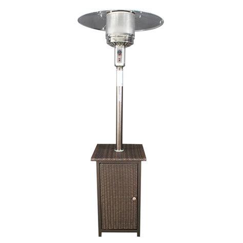 41000 btu patio heater homcomfort 41 000 btu gas patio heater with wicker stand