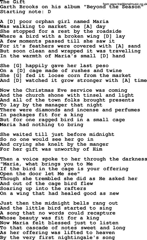 the gift by garth lyrics and chords