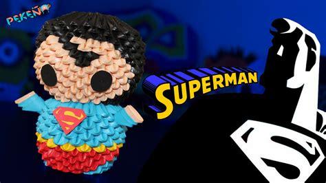 3d origami superman superman 3d origami peke 241 o