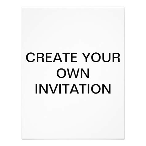 how to make your own invitation cards create your own custom invitation 11 cm x 14 cm invitation