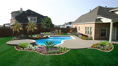 pool garden ideas triyae small backyard landscaping ideas with above