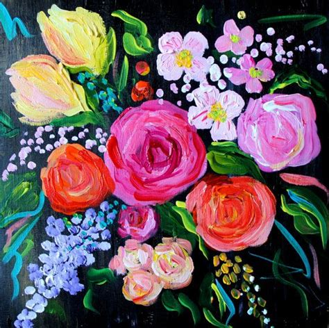 flower painting pictures 25 trending abstract flower paintings ideas on