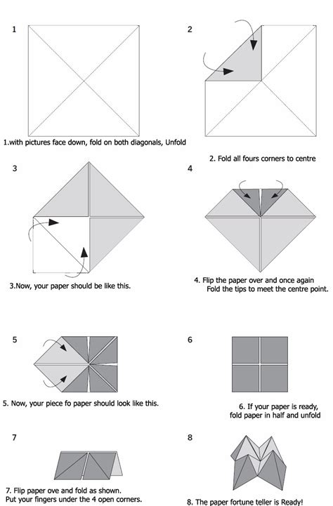 how to make a fortune teller origami step by step popular diy crafts how to make a paper fortune