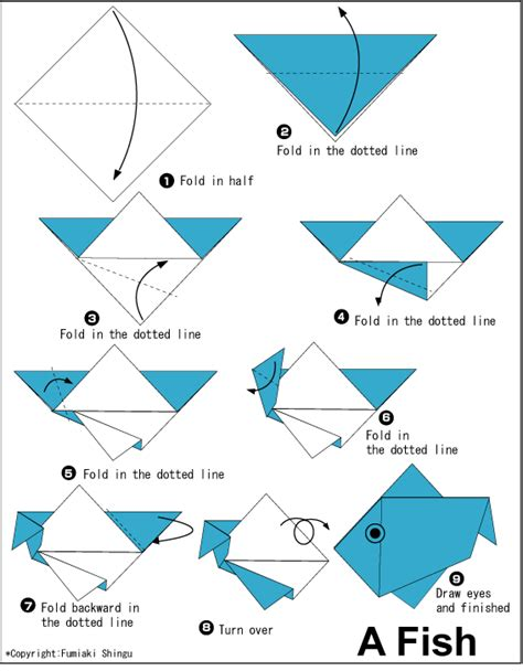 easy origami fish easy origami eagle for 1 summer c