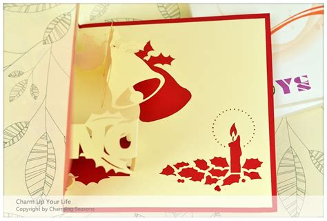 origami 3d card origami handcrafted 3d season s greeting card merry