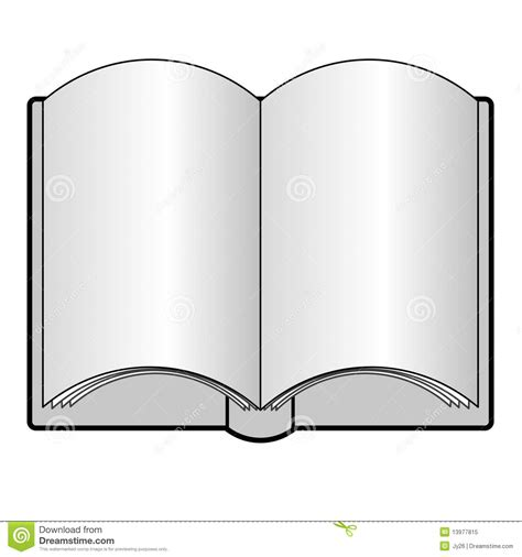 An Open Book With Blank Pages Royalty Free Stock Photo