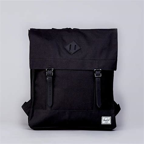 stington rubber sts herschel survey canvas backpack black rubber flatspot
