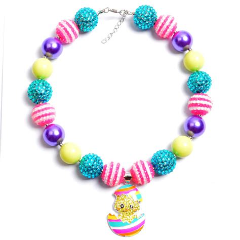 chunky bubblegum chunky bubblegum bead necklace necklace dal16883