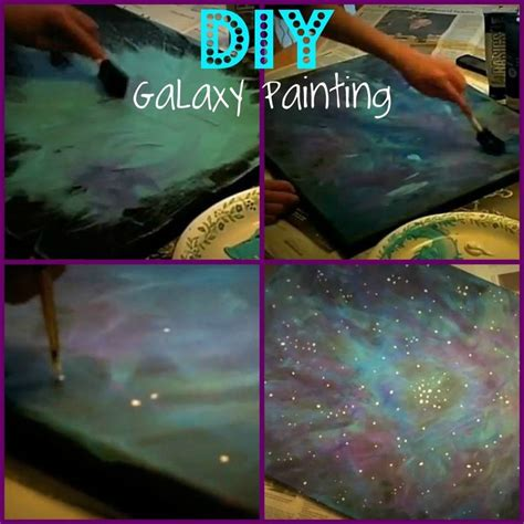 acrylic paint tutorial galaxy pin by sullivan on saving money yo
