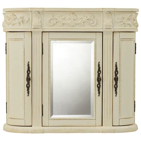 bathroom wall cabinets with mirrors home decorators collection chelsea 31 1 2 in w bathroom