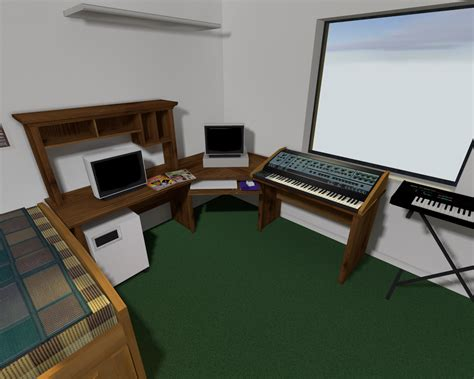computer desk mod new computer desk synth room size increase image rats