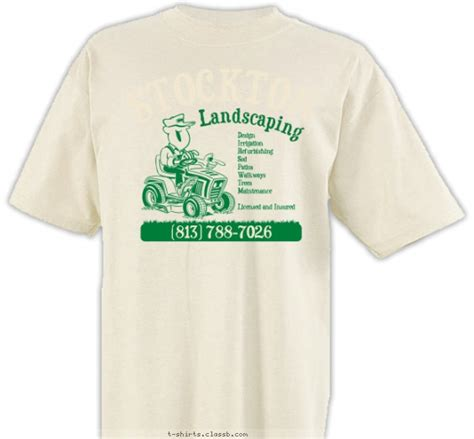 landscaping t shirts landscape business design 187 sp141 comic lawnmower