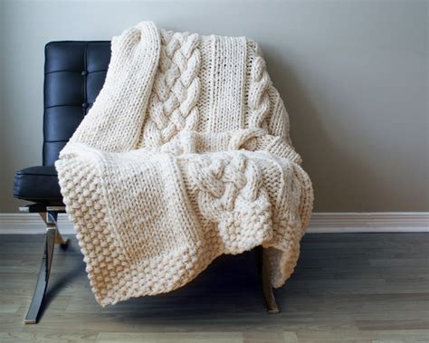 blanket knitting chunky knit blanket pattern a knitting