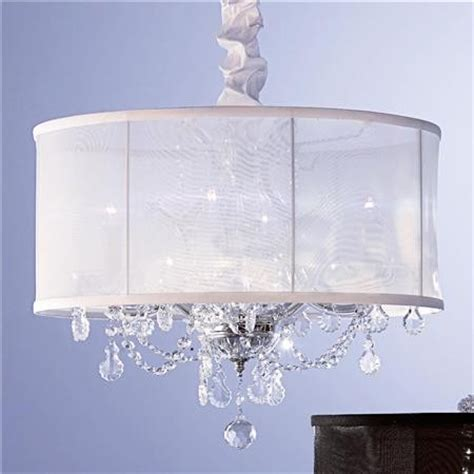 chandelier with shade and crystals organza shade chandelier modern