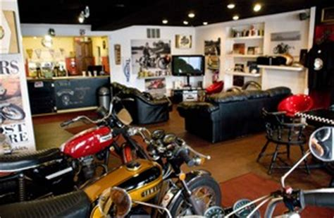 Discovery Channel's 'Cafe Racer' show filming episode at Depot Town vintage motorcycle shop