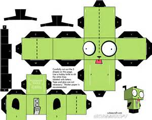www paper craft invader zim papercraft gir wallpaper 1482x1173 59317