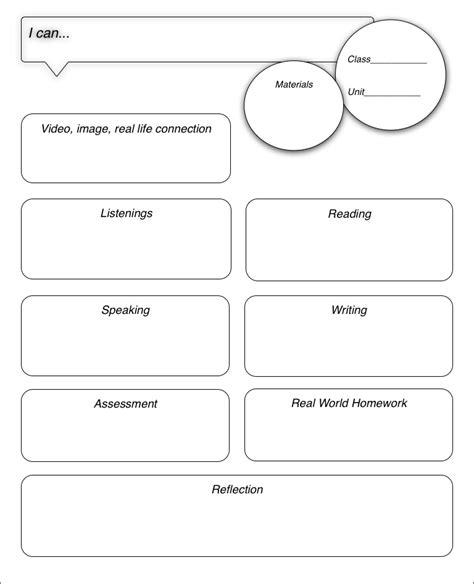 world language lesson plan template creative language class