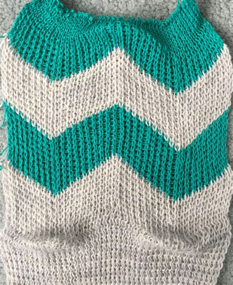 knit rows racking 2 vertical chevrons herringbone alessandrina