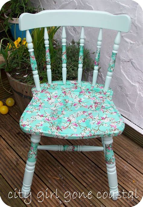decoupage on wood furniture decoupage chair