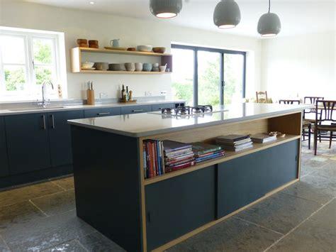 bespoke kitchen islands slate gray and oak bespoke kitchen by henderson furniture brighton uk