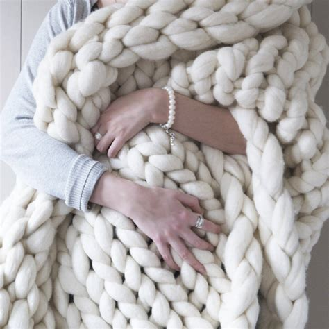 knitting with chunky wool woolacombe chunky knitted throw by aston