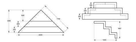 schema dimension escalier d angle pour piscine