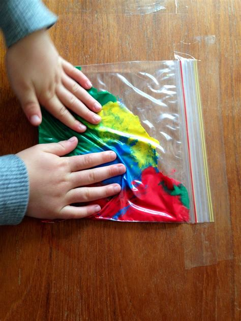 painting craft projects squidgy rainbow bags my kid craft
