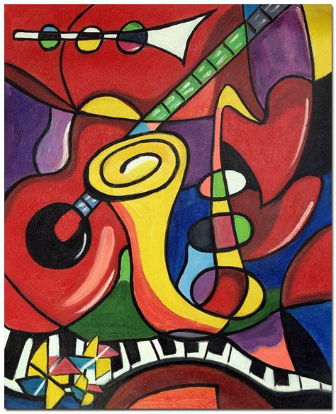 picasso paintings with musical instruments musical instruments painted pablo picasso repro
