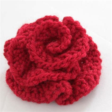 easy knit you to see easy knitted flower on craftsy