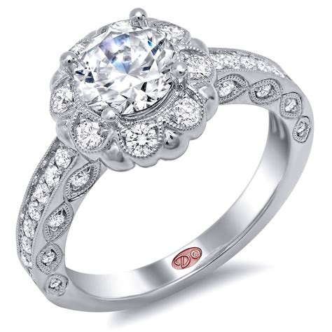 ring jewelry flower inspired engagement rings demarco bridal jewelry