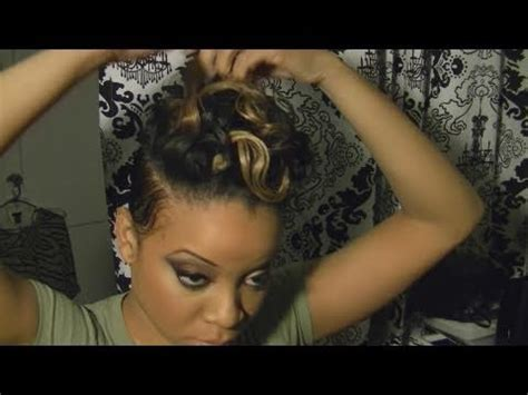 how to style hair for track and field rihanna styled hair tutorial with blond adding a track