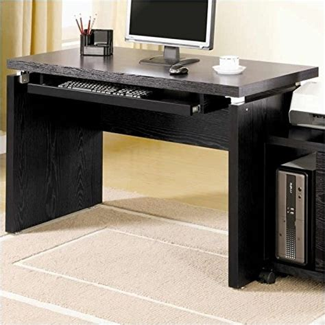 large black computer desk coaster peel black computer desk with keyboard tray