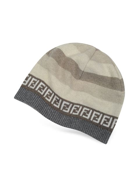 fendi knit hat fendi striped zucca logo jacquard knit wool skull hat in