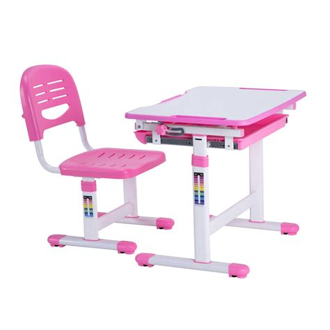desk and chair for best desk height adjustable children desks chairs