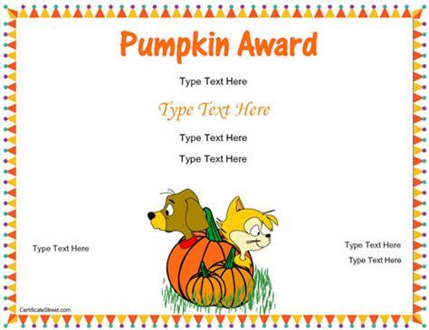 blank award templates blank certificates autumn award certificate template